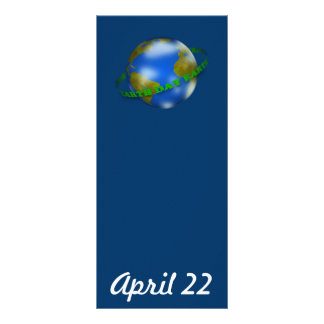 Earth Day Globe Bookmark Rack Card