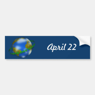 Earth Day Globe Bumper Sticker Car Bumper Sticker