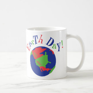 Earth Day Globe Classic White Coffee Mug