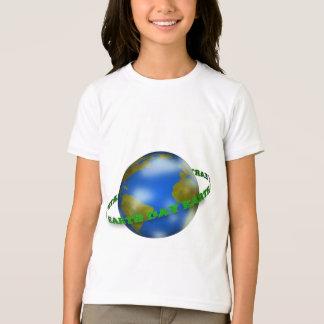 Earth Day Globe Girls Ringer T-Shirt