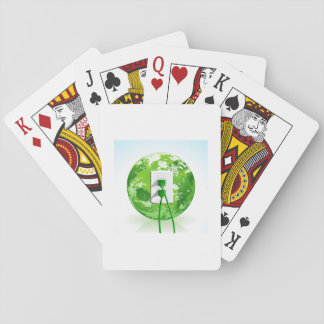 Earth Day Globe Playing Cards