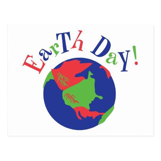 Earth Day Globe Postcard