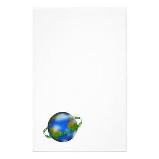Earth Day Globe Stationery