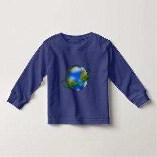 Earth Day Globe Toddler Long Sleeve T-Shirt