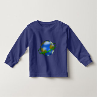 Earth Day Globe Toddler Long Sleeve T-Shirt