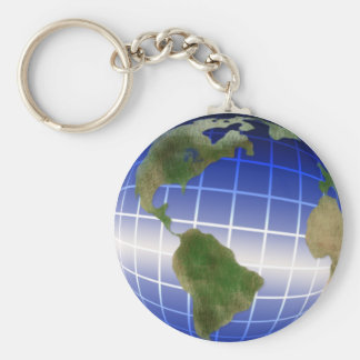Earth Day Globe with Equator Highlight Keychain