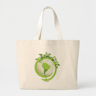 EARTH DAY GO GREEN CANVAS BAGS