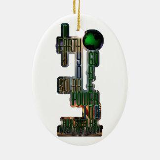 Earth Day Go Green Ceramic Ornament