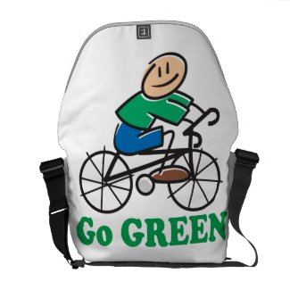 Go Green Messenger Bags