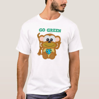 Earth Day Go Green monkey Goofkins T-Shirt