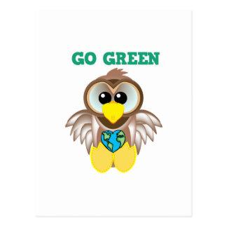 Earth Day Go Green owl Goofkins Postcard