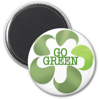 EARTH DAY GO GREEN REFRIGERATOR MAGNETS