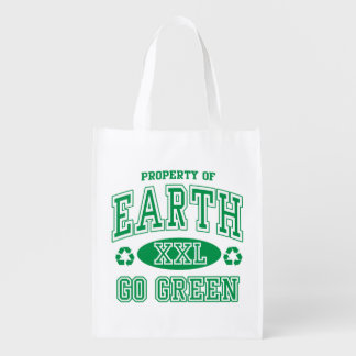 Earth Day Go Green Reusable Grocery Bag