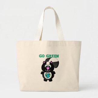 Earth Day Go Green skunk Goofkins Bags