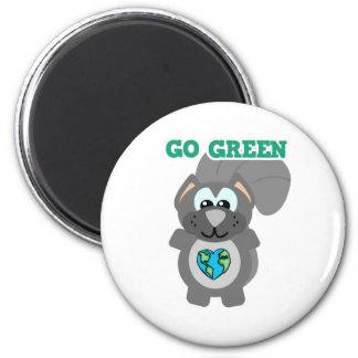 Earth Day Go Green squirrel Goofkins 2 Inch Round Magnet