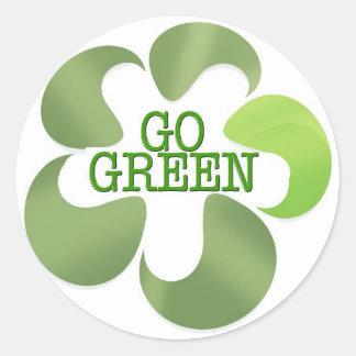 EARTH DAY GO GREEN STICKER