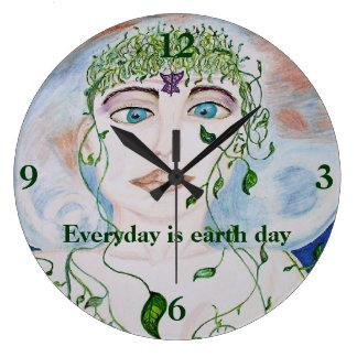 Earth Day Goddess Wall Clock