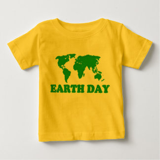 Earth Day Grass Map Baby T-Shirt