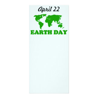 Earth Day Grass Map Bookmark Rack Card