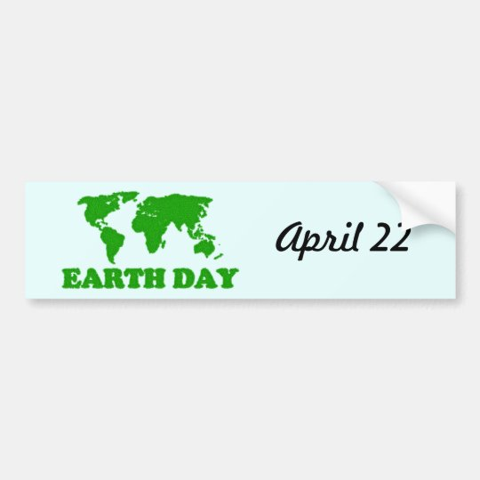 Earth day grass map bumper sticker