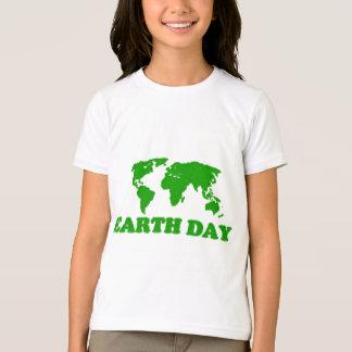 Earth Day Grass Map Girls Ringer T-Shirt