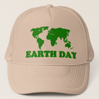 Earth Day Grass Map Hat