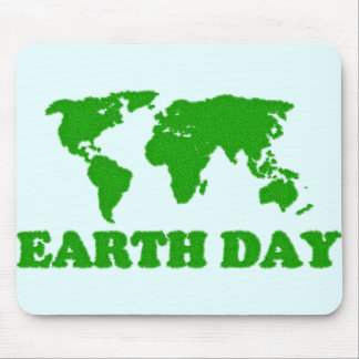 Earth Day Grass Map Mousepad