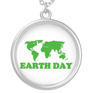 Earth Day Grass Map Necklace