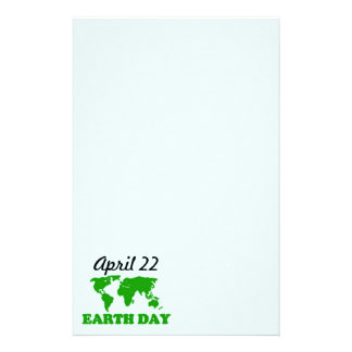 Earth Day Grass Map Stationery