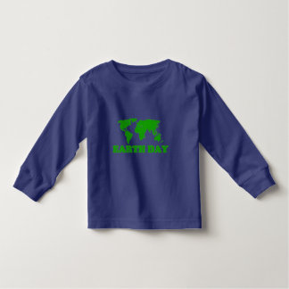 Earth Day Grass Map Toddler Long Sleeve T-Shirt
