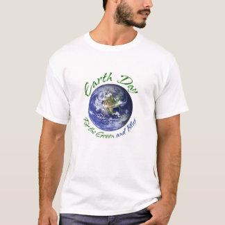Earth Day Green Blue L T-Shirt