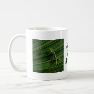 Earth Day Green Lizard Mug