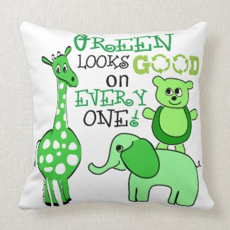 Earth Day pillow