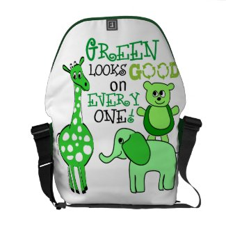 Earth Day Green Message Commuter Bags