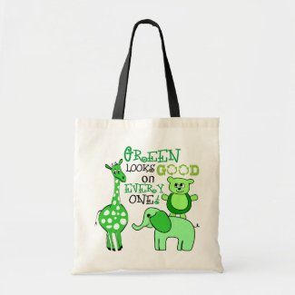Earth Day Green Message Tote Bag