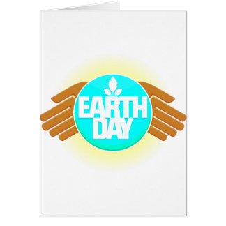 earth day hands design card