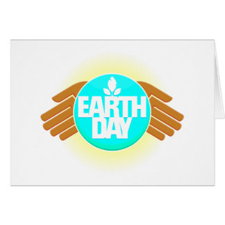 earth day hands design greeting cards