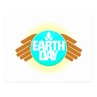 earth day hands design post card