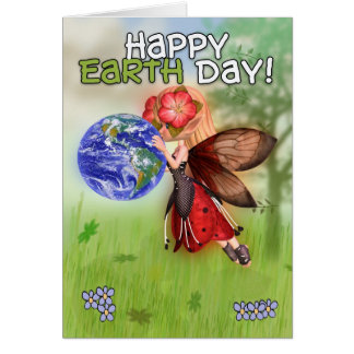 Earth Day, Happy Earth Day, Butterfly Fairy Kissin Card
