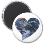 Earth Day Heart Refrigerator Magnets
