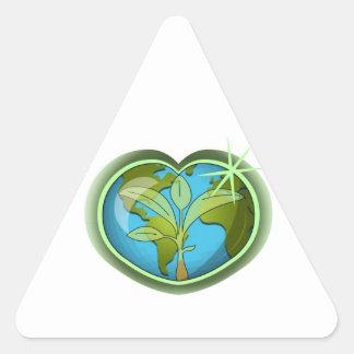 Earth Day Heart Triangle Sticker