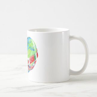 Earth Day Heart With Flags Coffee Mug