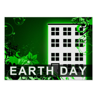 earth day : hi-fi buildling poster