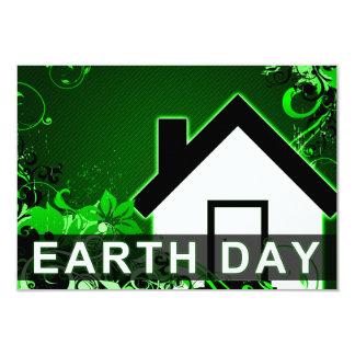 earth day : hi-fi home 3.5x5 paper invitation card
