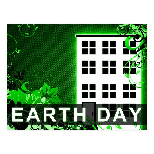 earth day : hi-fi home postcard