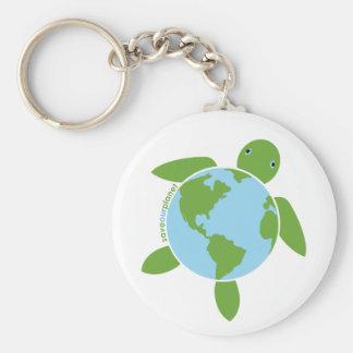 Earth Day Honu Key Chain