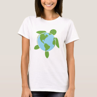 Earth Day Honu Ladies Baby Doll T-Shirt