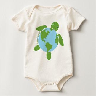 Earth Day Honu Organic Infant Creeper