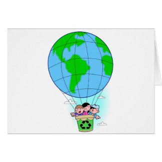 Earth Day hot air balloon Greeting Card