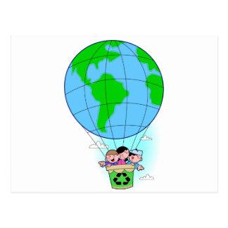 Earth Day hot air balloon Postcard